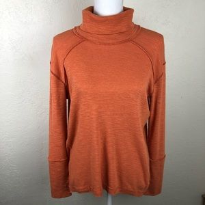 Free People Orange Turtleneck M A67